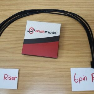 6pin riser cable 60cm black